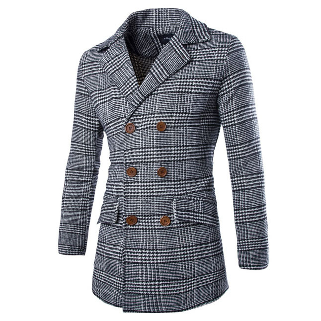 2015 New Arriva Men Blazers Suit Collar Woolen Coat Long Section Of Double-Breasted Slim Fashion Personality Windbreaker 13M0153Одежда и ак�е��уары<br><br><br>Aliexpress