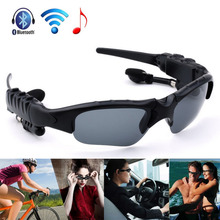Upated! Fashion Outdoor Sunglasses Earphone Wireless Headphone Bluetooth Stereo Music Phone Call Driving Hands Free Headset(China (Mainland))