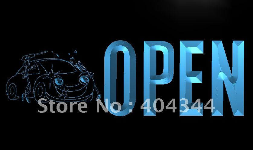 LK775- OPEN Cash Wash Lure Bar LED Neon Light Sign home decor crafts(China (Mainland))