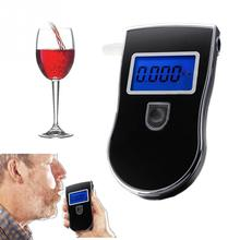 2016 Professional Police Digital Breath 3V Alcohol Tester Portable Breathalyzer Detector Blue-colored Backlight LCD Display(China (Mainland))