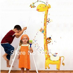 8004 kids giraffe height growth chart for kids rooms for Growth chart for kids room