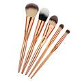 5PCS Heart Shape Rosegold Makeup Brush Set Pro Foundation Powder Contour Eyeshadow Blush Crease Brushing Brush