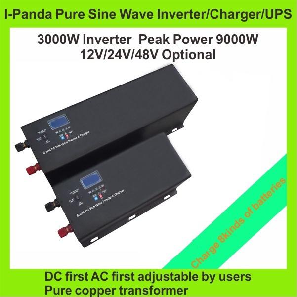 3KW 3000W Power inverter charger Peak power 9000W Trucks emergency vehicles inverter Boat inverter RV CRV invertor Solar UPS(China (Mainland))