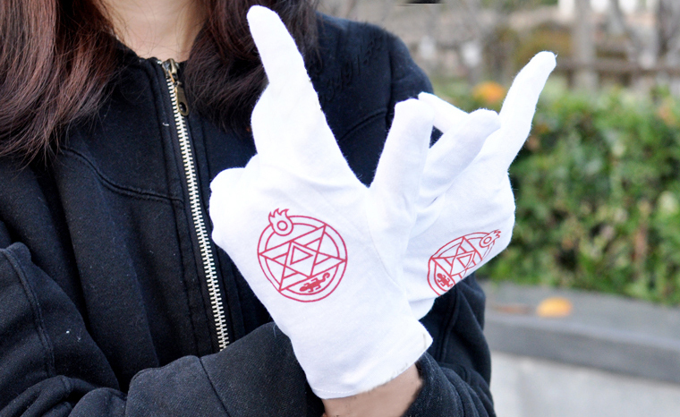 Anime Fullmetal Alchemist Cosplay Gloves Costume Colonel Roy Mustang Edward Elric Mittens Accessories - Online Store 912322 store