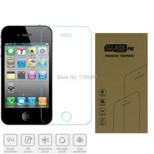 Explosion-proof Tempered Glass Screen Protector For Apple iPhone 4 4S 4G Premium Screen Anti Shatter Protector Film