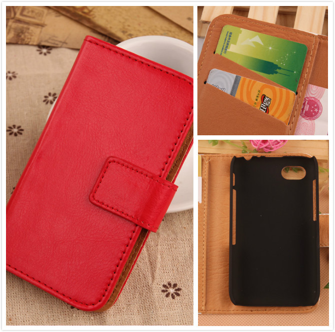 Wallet design Flip Style Holster Card Slot Pure color Case For BlackBerry Q5 4G LTE PU Leather Cell phone cover bag(China (Mainland))