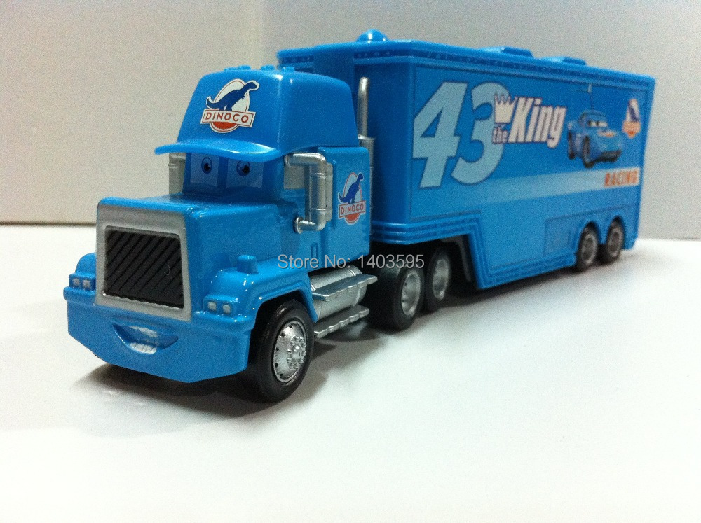 Pixar Cars Mack Uncle No.43 King Racer's Truck Metal Diecast Toy Car 1:55 Loose Brand New In Stock & Free Shipping(China (Mainland))