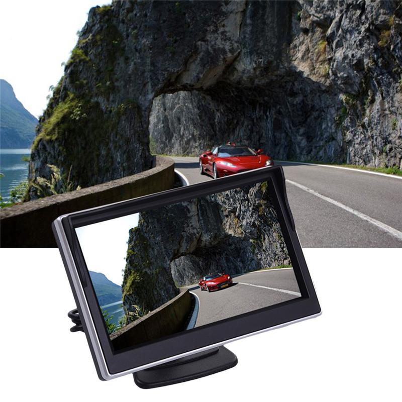 5'' inch Universal Digital High-definition HD Sucker Reverse Black Car Monitoring Camera Display 3W 480RGBx272 for review camera(China (Mainland))