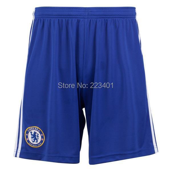 Top Thai quality 14/15 Chelsea home soccer shorts 2014/2015 thailand Chelsea football shorts blue team cfc training club short(China (Mainland))
