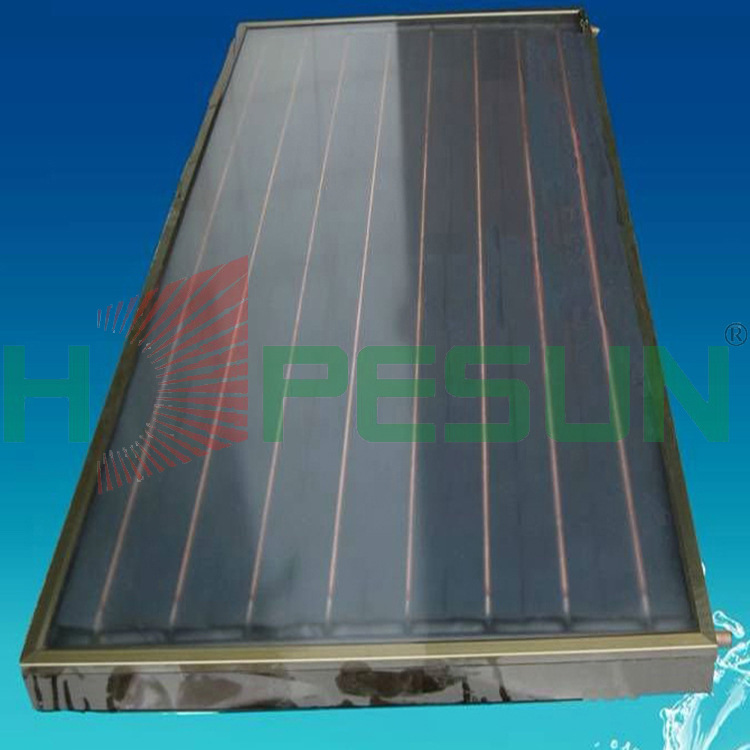 Factory direct blue titanium flat plate collector villa with pressurized solar collectors balcony wall(China (Mainland))