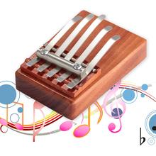 Sales Promotion 5 Keys Kalimba Mbira Likembe Sanza Finger Thumb Piano Rosewood Instrument wholesale(China (Mainland))