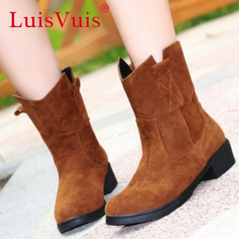 women high heel ankle boots half short autumn winter botas fashion quality footwear warm heels boot shoes P19323 size 34-39