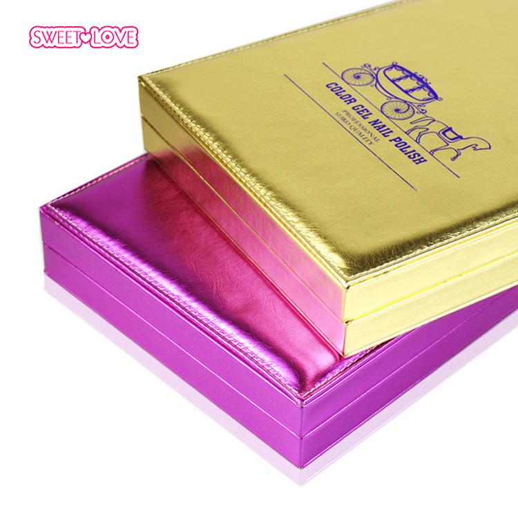 1pc Professional 162 Colors Golden/Silver/Purple Cover Nail Gel Polish Display Card Book Chart with Tips Nail Art Salon Set(China (Mainland))