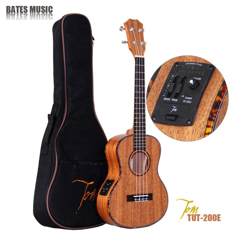 """TOM guitar ukulele manufactory TUT-200E import musical instruments with EQ Ukulele With Aquila Strings 26"""" free shipping(China (Mainland))"""