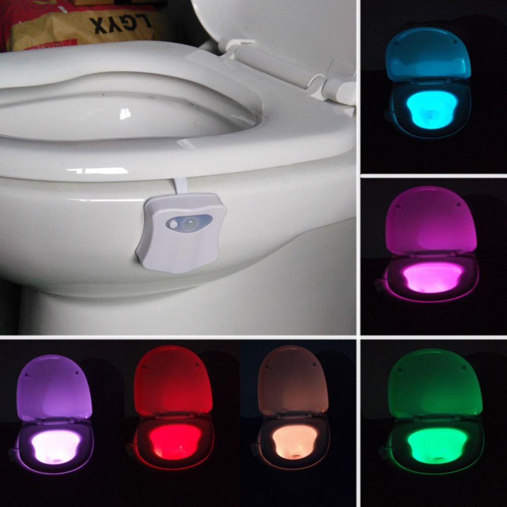 2017 New 8 Colors LED Toilet Night light Motion Activated Sensor ToiletLight Sensitive Battery-operated Lamp 3d tooth lamp HOT(China (Mainland))