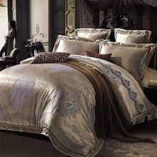 Palace Satin bedclothes Bed Set Luxury Silk Jacquard Bedding Set Queen King 4pcs Lace duvet/quilt cover bed linen set cotton(China (Mainland))