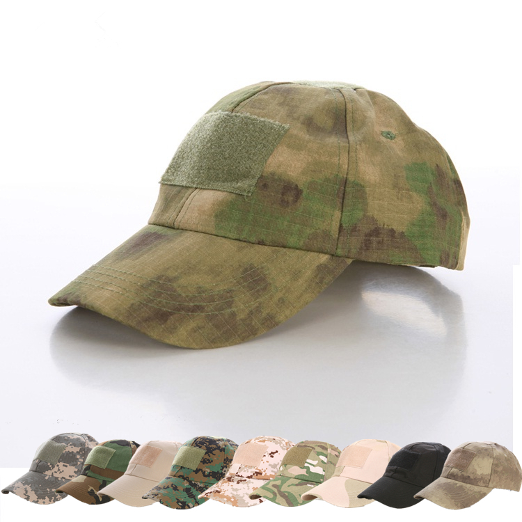 2014 Free shipping! Hiking male hat Summer camping man's Camouflage Tactical hat army Fishing bionic Baseball cadet Military cap(China (Mainland))