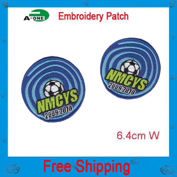 World Cup Football embroidery patch garment accessories low price good quality 100% satisfaction free shipping can be customized(China (Mainland))