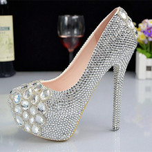 Free Ship! Women wedding shoes Fashion bridal wedding dress shoes handmade rhinestone high-heeled shoes women(China (Mainland))