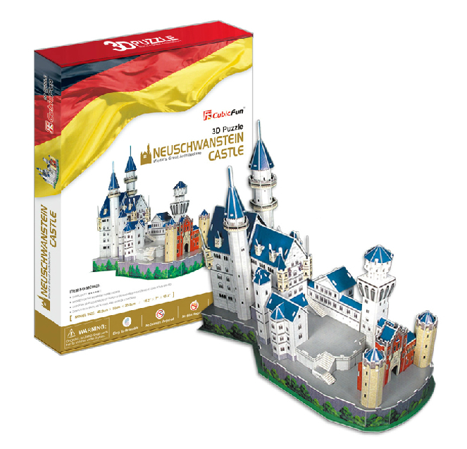 Germany Building Toys For Boys : Paper model castle promotion shop for promotional
