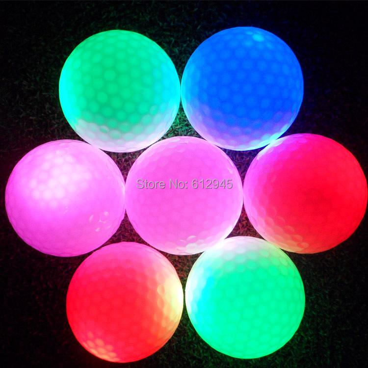 Factory Direct Wholesale Luminous night LED Golf Ball Training Exercise Ball(China (Mainland))
