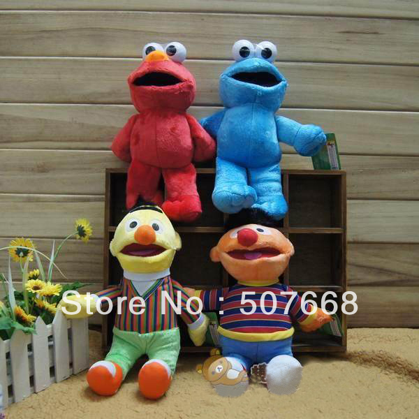 "100/Lot New Sesame Street High Quality Soft Plush 8"" Sesame Street Plush Doll(China (Mainland))"