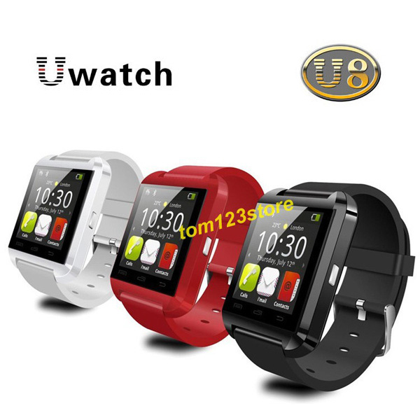 Bluetooth Smart Watch WristWatch U8 U Watch for iPhone 4 4S 5 5S Samsung S4 Note 2 Note 3 HTC Android Phone(China (Mainland))