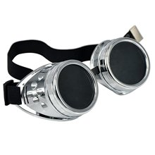 BISM Hot Cyber Goggles Steampunk Welding Goth Cosplay Vintage Goggles Rustic-Black & Black