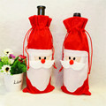 Christmas Decoration Bags Christmas Tree Party Children Gift Red wine Bags Cartoon Santa Claus Stocking Free
