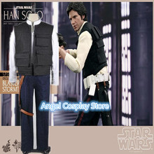 Hallowmas Christmas Game Movie Anime Star Wars Han Solo ANH Costume Vest Shirt Pants Cosplay Custome Any Size NEW