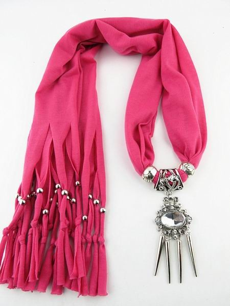 Fashion Charms winter Scarf Necklaces Big Crystal Pendant scarf Necklaces Women Scarf Necklaces Jewelry Wholesale