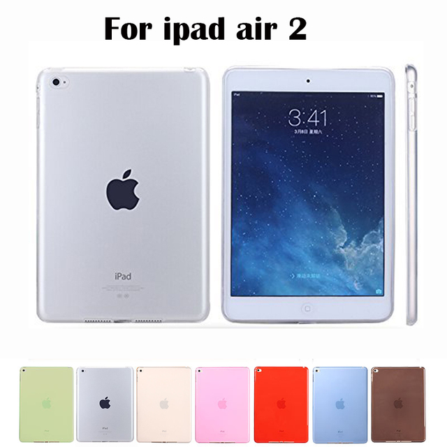 Top Quality for Apple ipad air 2 case TPU Soft Transparent for ipad 6 Case Cover Skin Protector for iPad air2 case Tablet Bags