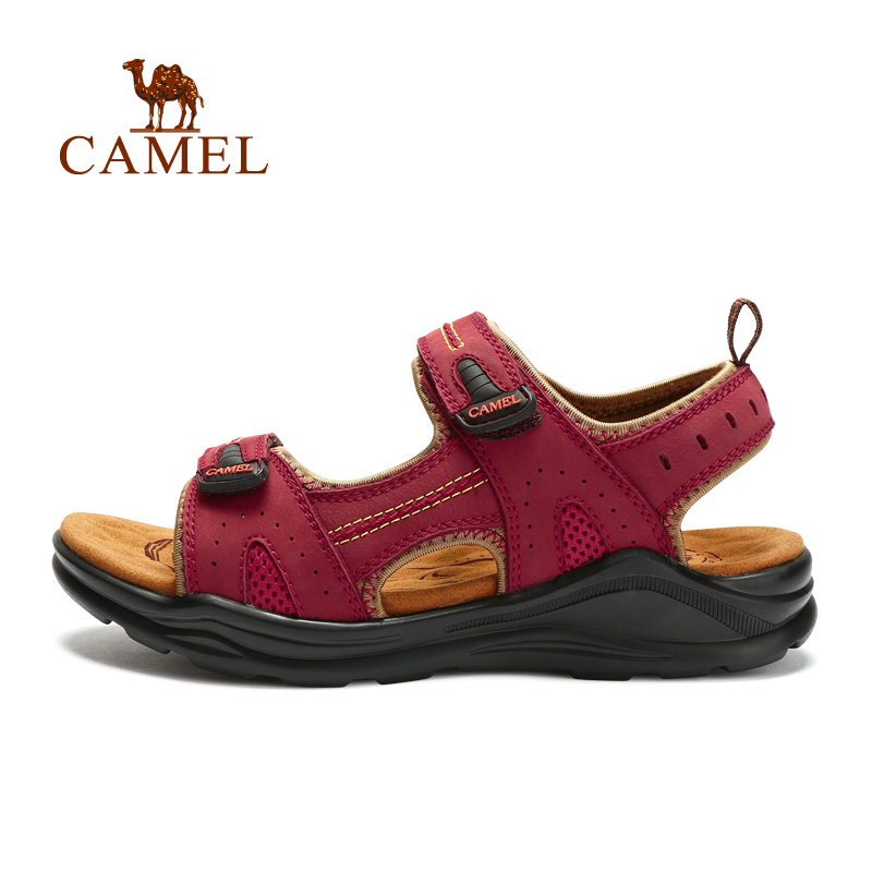 CAMEL camel female models outdoor beach sandals 2015 summer new breathable Velcro leather sandals for women(China (Mainland))