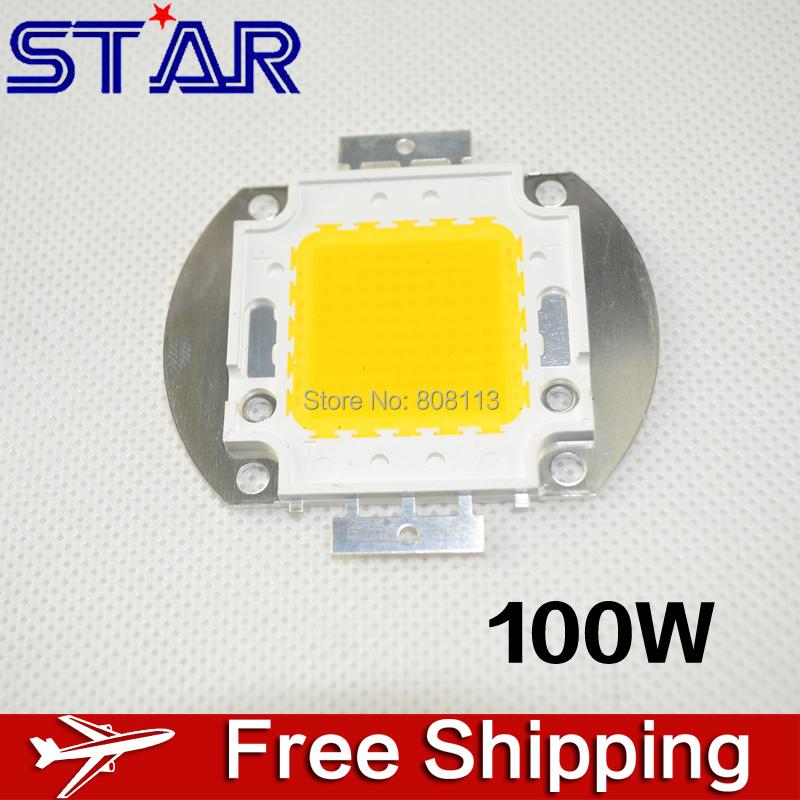 Factory Sale 100W 8000-9000LM 30-32V High Power LED bulb chip diodes beads for LED Lamp Flood Light Spotlight<White/Warm White>(China (Mainland))