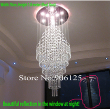 Contemporary LED Crystal Chandelier Light Stair Chandelier Light Included Led light Source  Guaranteed 100%+Free shipping!(China (Mainland))
