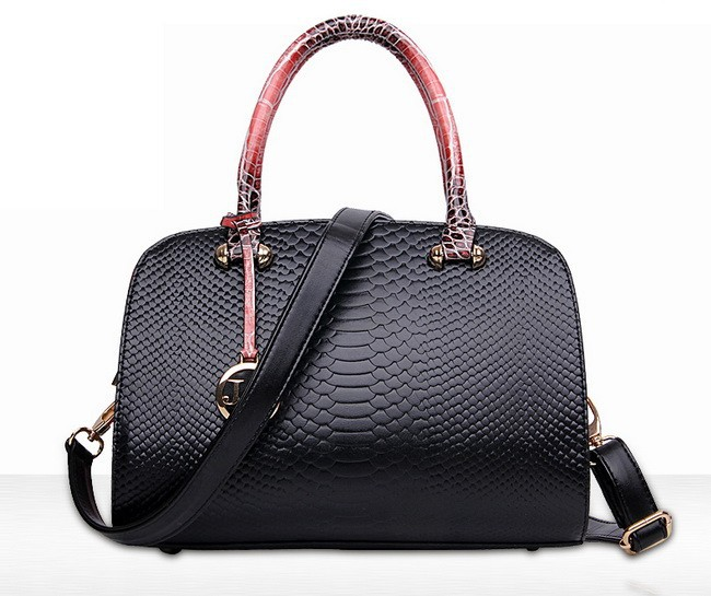 New Fashion Ladies Handbag Embossed Serpentine Women's Shoulder Bag