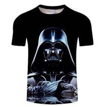Mężczyźni Darth Vader heavy metal drukowanie projektant śmieszne koszulki z krótkim rękawem Tee kreatywna moda star wars koszulki topy hip-hopowe(China)