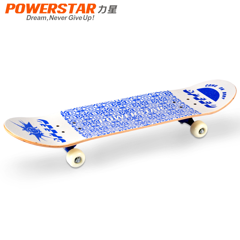 Blue White Porcelain Long Skateboard Professional Four Wheel Double Adult Child - Hangzhou Yao Chen electronic commerce co., LTD store
