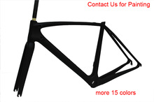 wholesale price 2016 Road Bike Carbon Frame set more 20 colors choice full carbon fiber frame 49 52 54 56 58cm bicycle frameset(China (Mainland))