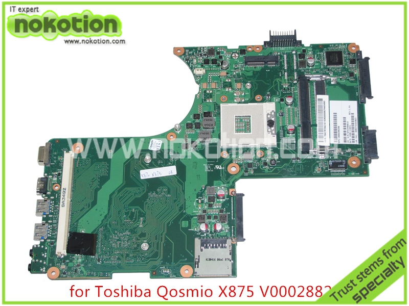 V000288280 Brand new Laptop motherboard for toshiba Qosmio X870 X875 6050A2493501-MB-A02 HM76 HD4000 DDR3 with graphics slot(China (Mainland))