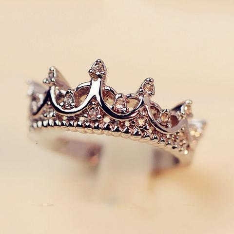 Crown Ring  palace restoring ancient ways the queen's temperament Woodwork anillos tail Silver Ring B4 R211(China (Mainland))