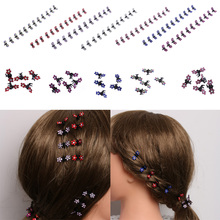 Buy 12 Pcs/Set Fashion Women Hairpins Crystal Flower Mini Barrettes Hair Claw Clamp Hair Clip Girls hair accessories 2017 Hot Sale for $1.28 in AliExpress store