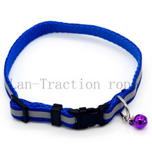 6 Color Dog Cat Traction rope haulage rope necklace Pet Leash Retractable dog Collar leash Chain Collars Small bell Reflective(China (Mainland))