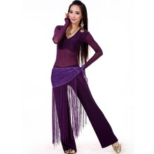 2015 Belly Dance Costume Set Professional Top&Pants&Hip Scarf Indian Dress Lady Belly Dancing Dance Wear Practice/Performance