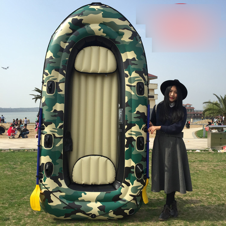 thick camouflage boat inflatable boat fishing boat thicken cushion 3.1M for 5 persons(China (Mainland))