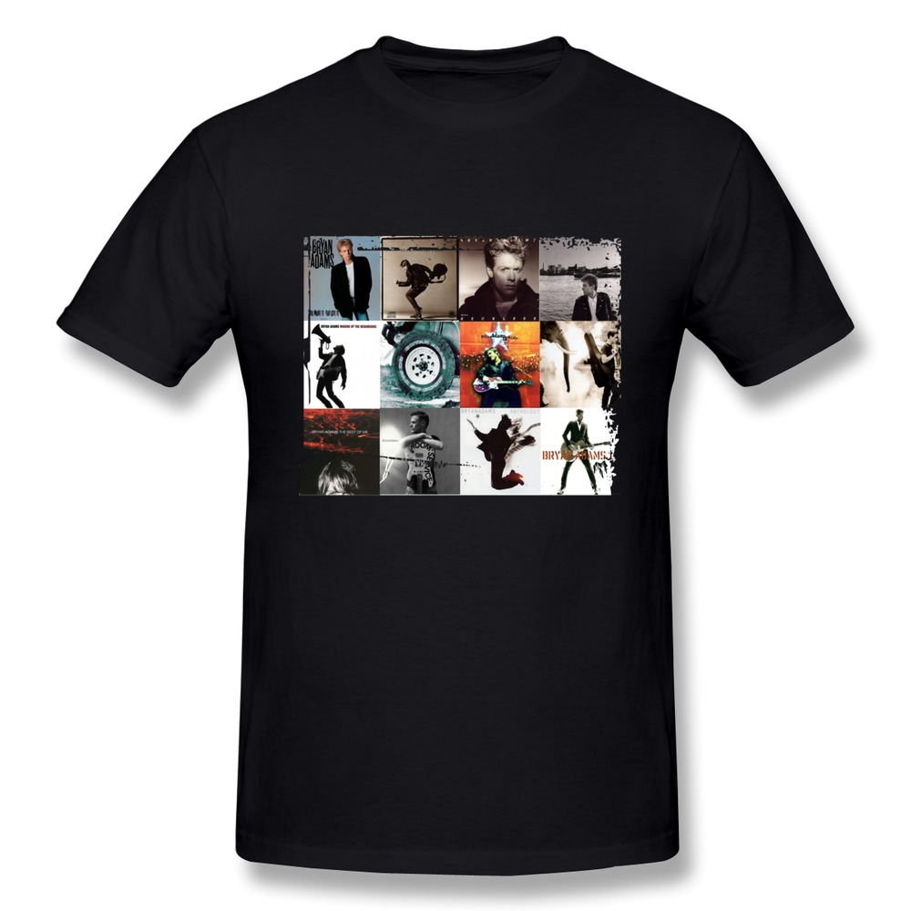Latest O Neck Bryan Adams All Albums Print Front T Shirts