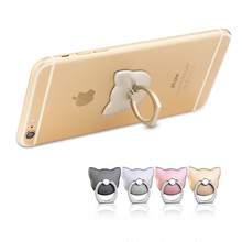 Buy Cartoon cat 360 Degree Mobile Phone Finger Ring Smartphone Stand Holder iPhone 6 7 Plus Samsung Smart Phone S6 S7 Stand for $1.39 in AliExpress store