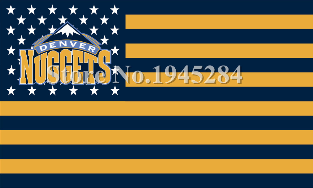 Denver Nuggets US Stars Stripes Flag New 3x5ft 150x90cm Polyester Flag Banner 1069, free shipping(China (Mainland))