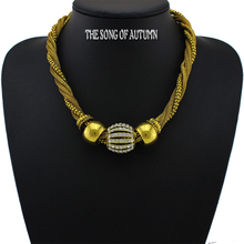 2015 New Unique Design Rhinestone Necklace and Pendant Fashion Vintage Beads Necklaces()