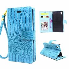 Buy Luxury Crocodile Grain Flip Wallet PU Leather Cover Sony Xperia XA Dual Case Wrist Strap Stand Function for $3.97 in AliExpress store